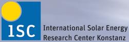 Logo Centre de recherche International  sur les cellules solaires Silicuim, ISC Konstanz